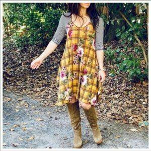 NWT Women's Floral Print Asymmetric Dress
